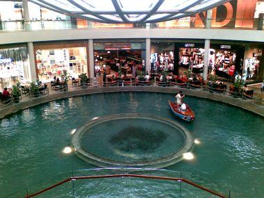 A gondola inside a mall
