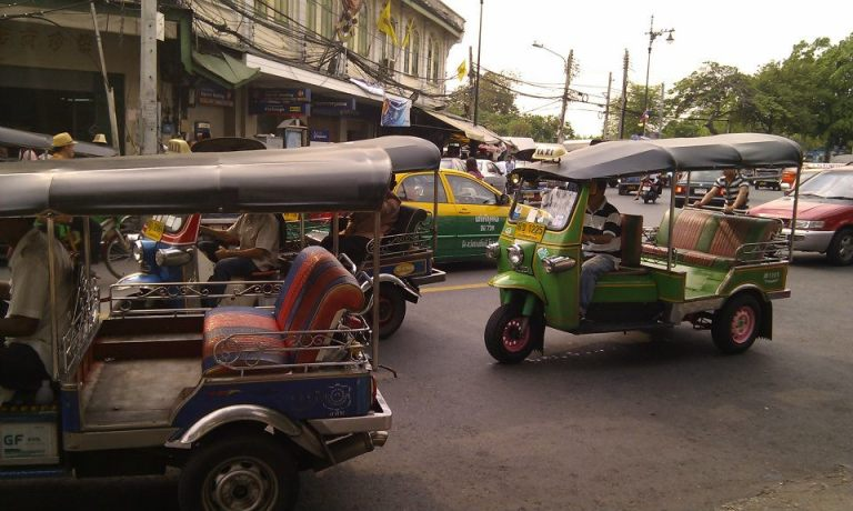 The iconic 'tuk-tuk' of Thailand