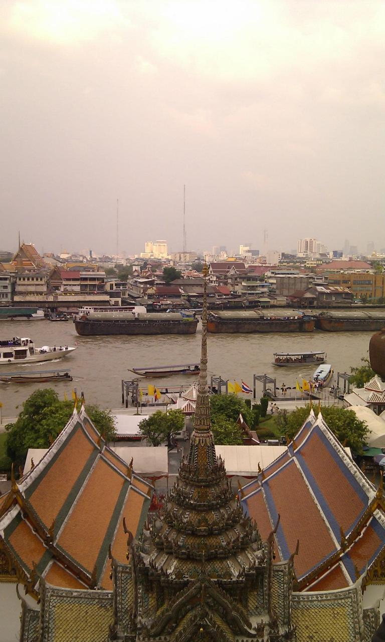 The view on top of Wat Arun