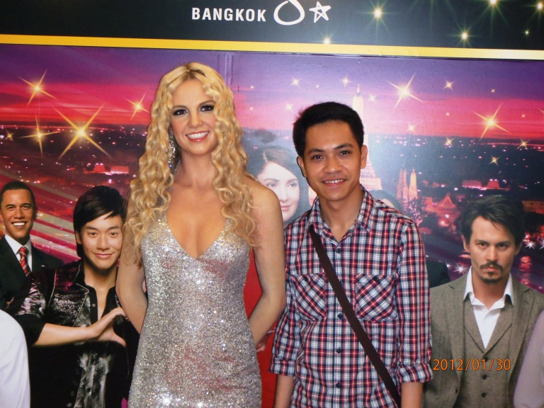 With Britney Spears at Siam Paragon