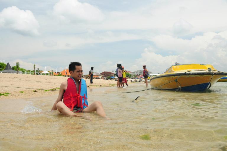 At Nusa Dua beach