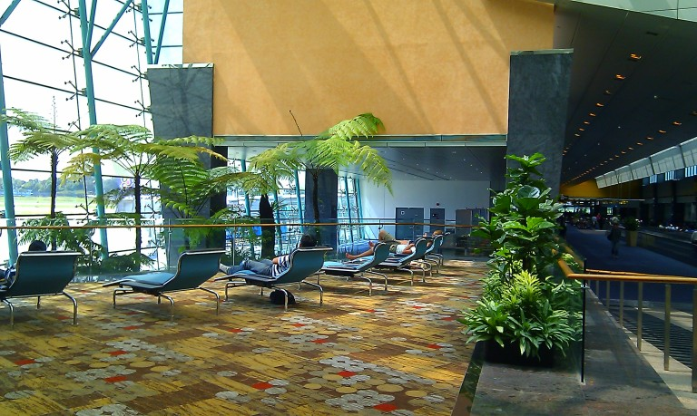 A lounge area in Changi Airport