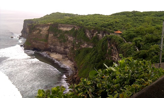 A cliff by the Indian Ocean