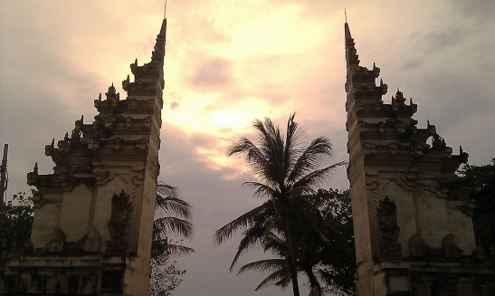 Entrance to Kuta Beach, Bali