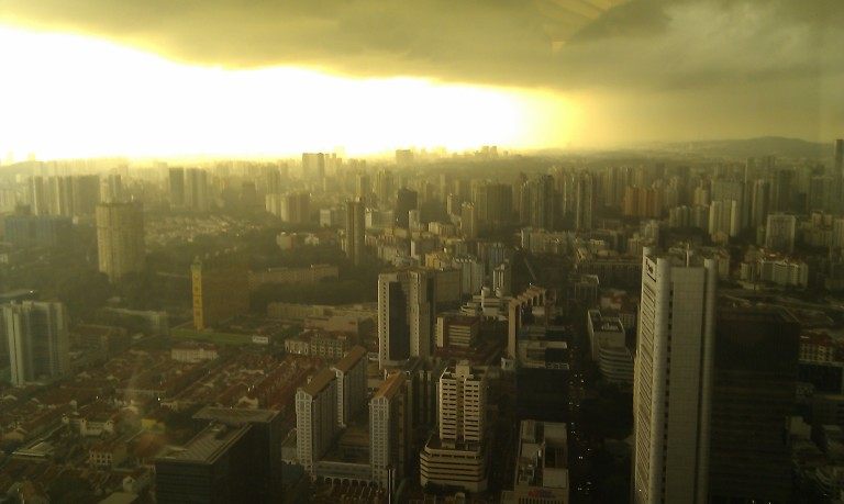 An eerie sunset view from my office