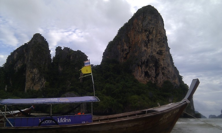 The iconic longtail boat of Thailand