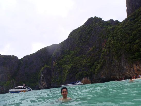 Swimming at Maya Bay