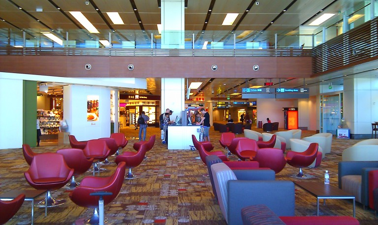 Lounge area in Changi Airport