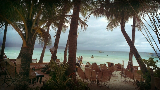 Coconut trees really do provide character to Boracay