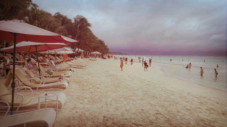 A gloomy weather won't even rid Boracay of its picturesque charm