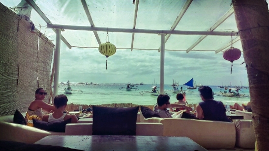 Beachfront lunch at Bamboo Lounge in Boracay