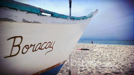 Some boat at Puka Beach, Boracay