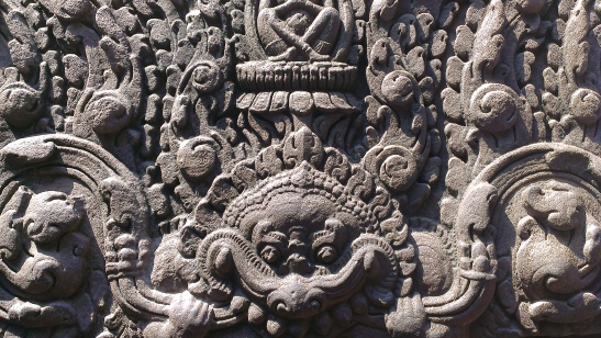 Stone carvings at Bayon temple