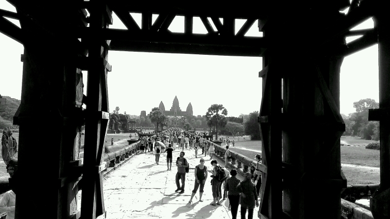 Angkor Wat in the horizon