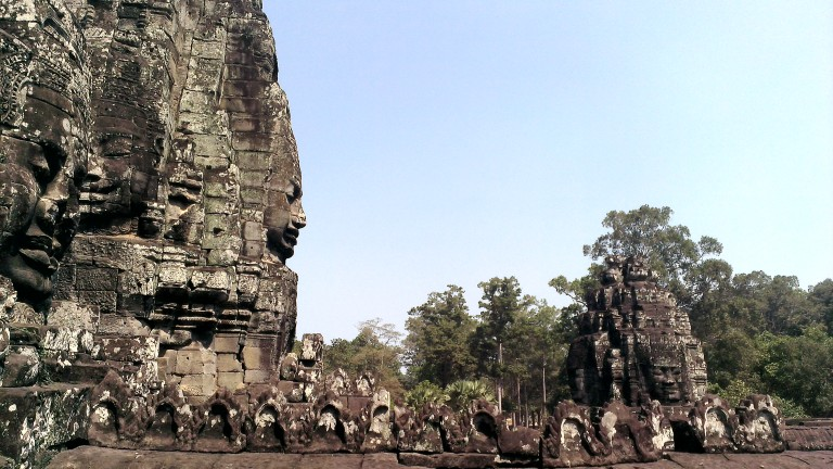 Just a few out of the 216 stone faces at Bayon temple