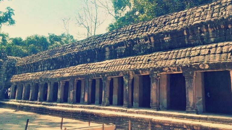 A corridor at Ta Prohm temple