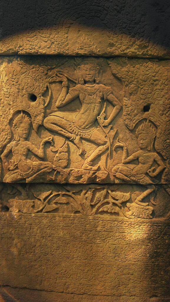 Hieroglyphs at Bayon Temple