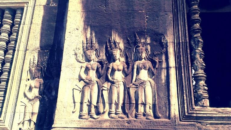 Stone carvings at Angkor Wat