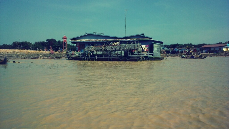 House at the floating village of Tonle Sap