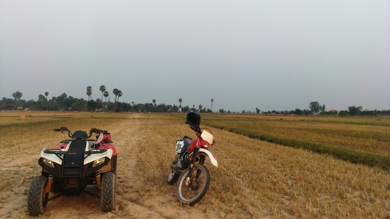 Quad-biking around Siem Reap's countryside