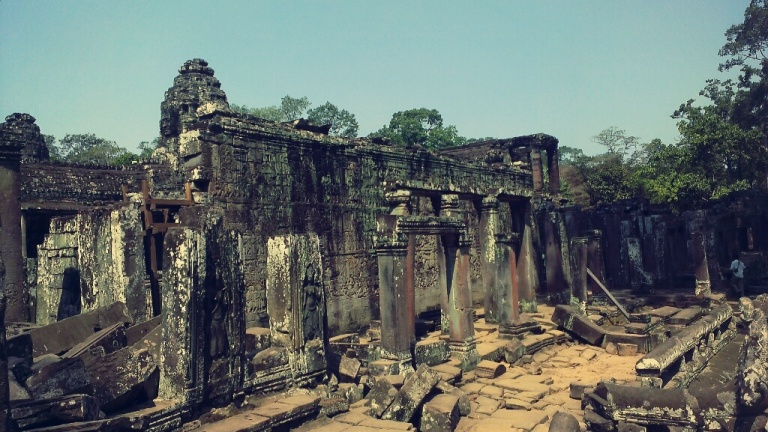 The ruins of Bayon temple