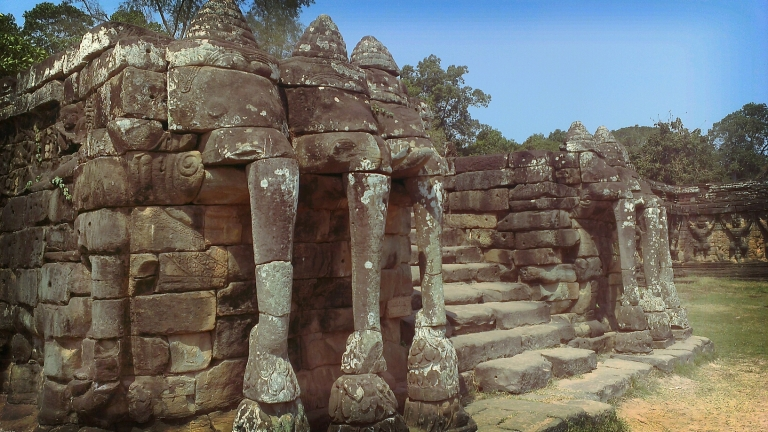 Terrace of the Elephants at Angkor Thom