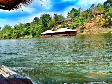 A floating house in Thailand