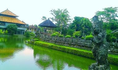 At the entrance of Taman Ayun