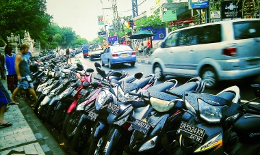 The thousands of bike in Bali