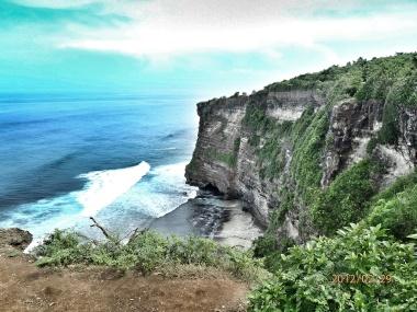 Cliff at Uluwatu Temple