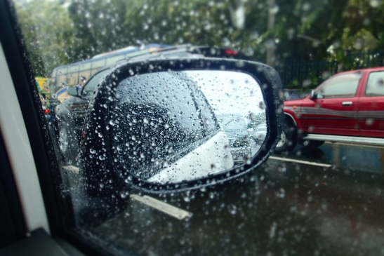 Rain and traffic. Great.