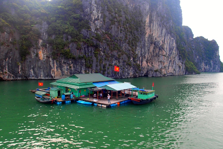 A floating house in Halong Bay