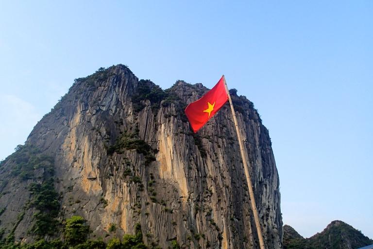 Vietnamese flag in Halong Bay