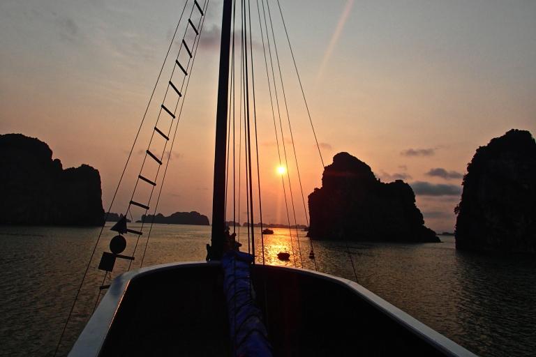 Beautiful sunset cruise in Halong Bay