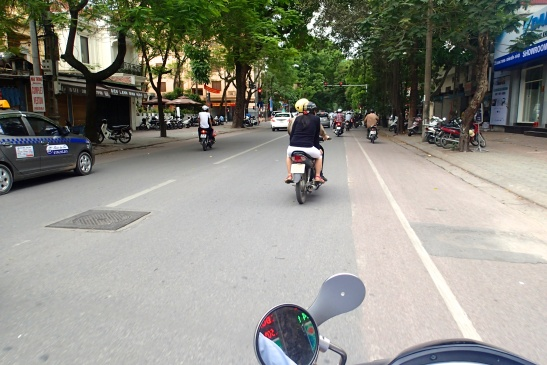 On to the motorbike and off to see the rest of Hanoi!