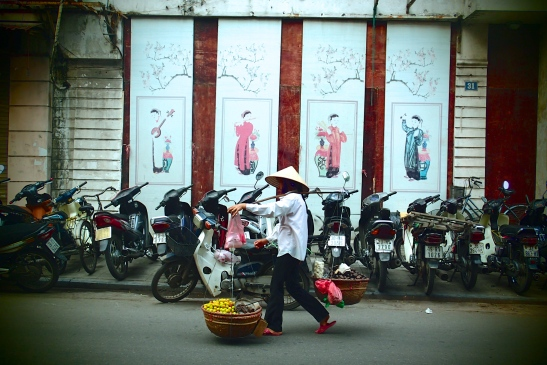 Everywhere you look, you will spot a Vietnamese woman carrying these on their shoulders.