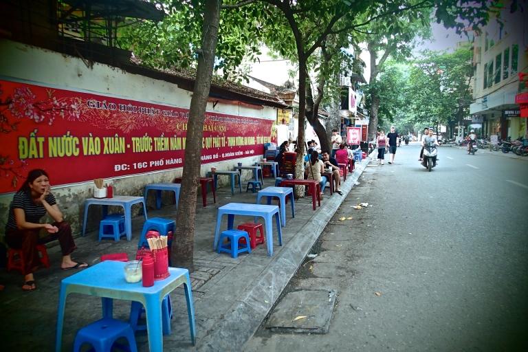 Streetside eatery in Hanoi
