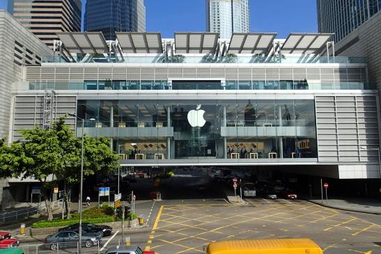 A mega Apple store at the IFC Tower in Hong Kong!