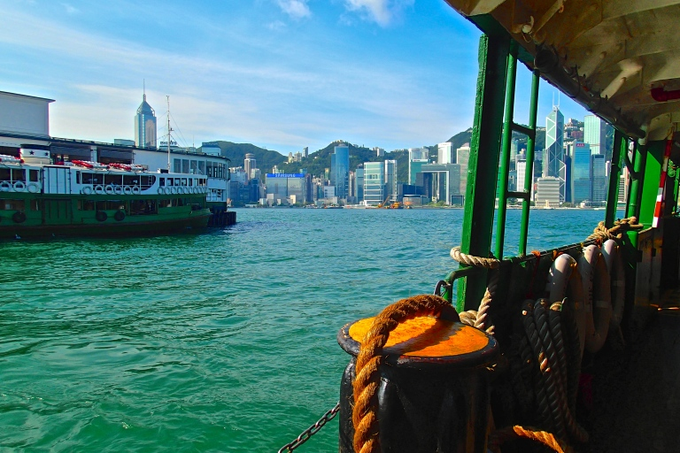 Arriving at the Star Ferry terminal in Kowloon